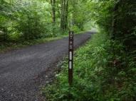 along dirt roads,